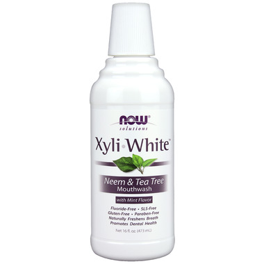 NOW Solutions Xyliwhite Neem & Tea Tree Mouthwash