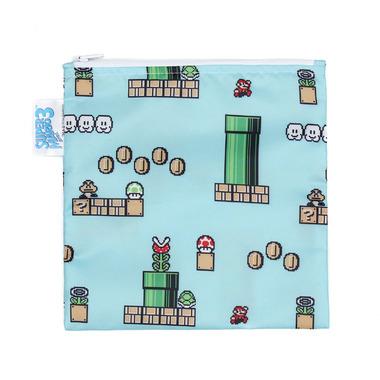 Bumkins Nintendo Reusable Snack Bag Large Super Mario 8- Bit
