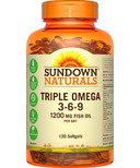 Sundown Naturals Triple Omega 3-6-9
