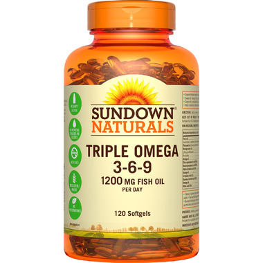 Sundown Naturals Triple Omega 3-6-9