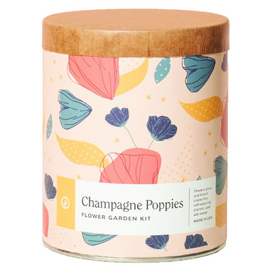 Modern Sprout Waxed Planter Champagne Poppies