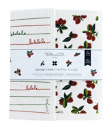 Ten & Co. Sponge Cloth Set Cranberry + Falala Red and Green