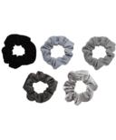 Kitsch Matte Scrunchies Black & Gray