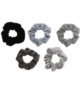 Kitsch Velvet Scrunchies Black & Gray