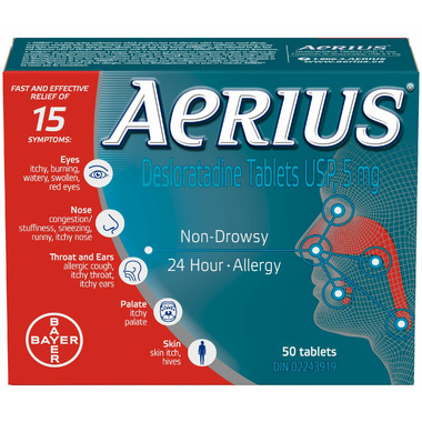 Aerius Non-Drowsy 24-Hour Allergy Large