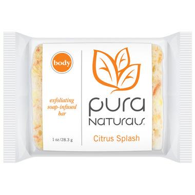 Pura Naturals Body Soap-Infused Sponge Citrus Splash