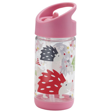 Sugarbooger Flip and Sip Clear Tritan Bottle Hedgehog