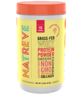 Natreve Grass Fed Whey Protein Powder French Vanilla Wafer Sundae