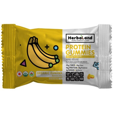Herbaland Protein Gummies Organic Banana