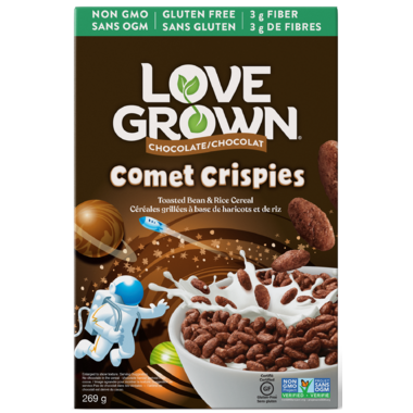 Love Grown Kid\'s Chocolate Comet Crispies Cereals