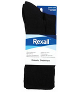 Rexall Men's Casual Crew Diabetic Socks