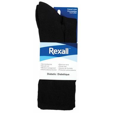 Rexall Men\'s Casual Crew Diabetic Socks