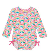 Hatley Watercolour Rainbows Baby Rashguard Swimsuit