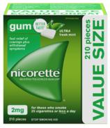 Nicorette Nicotine Gum Ultra Fresh Mint 2mg