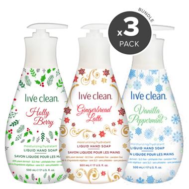 Live Clean Moisturizing Liquid Hand Soap Holiday Bundle