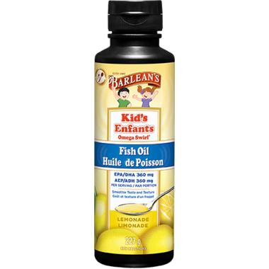 Barlean\'s Kid\'s Fish Omega Swirl Lemonade Flavor