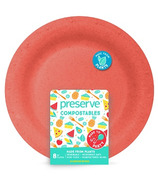 Preserve Compostables Large Plates Red