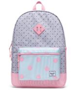 Herschel Supply Heritage Youth X-Large Backpack Peony & Grey Polka Dot