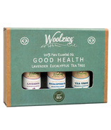 Woolzies Wool Dryer Ball Essential Oil Set Good Health