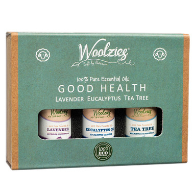 Woolzies Wool Dryer Ball Essential Oil Set Good Health