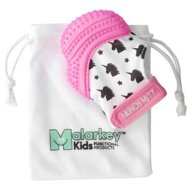 Malarkey Kids Munch Mitt Teething Pink Shimmer Unicorn