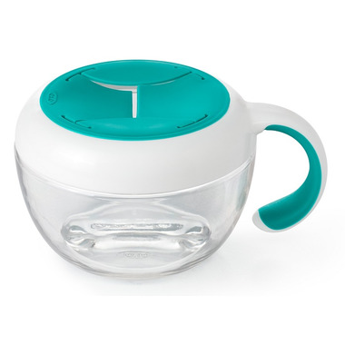 OXO Tot Flippy Snack Cup with Travel Cover Teal