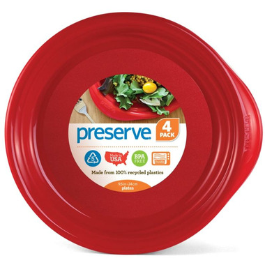 Preserve Everyday Plates Pepper Red