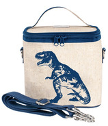 SoYoung Raw Linen Blue Dino Small Cooler Bag