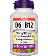 Webber Naturals Vitamin B6, B12 & Folic Acid