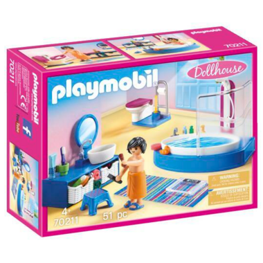 Playmobil Dollhouse Bathroom with Tub