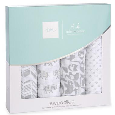 aden + anais x tea Classic Swaddles Savanna Animals