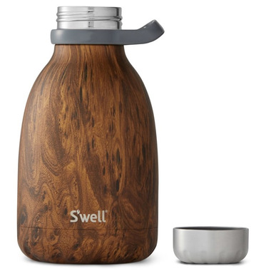 S\'well Teakwood Stainless Steel Roamer Wood Collection