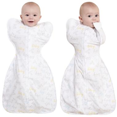 HALO Innovations SleepSack Self-Soothing Swaddle Happy Baby Love 0.5 TOG
