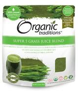 Organic Traditions mélange de jus d'herbe super 5