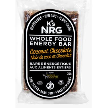 K\'s NRG Whole Food Energy Bar Coconut Chocolate