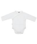 Kushies Side Wrap Long Sleeve Bodysuit White