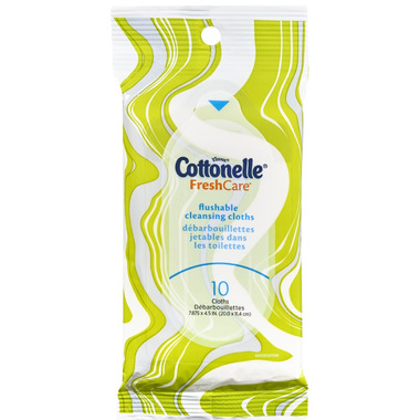 Cottonelle Fresh Care Flushable Cleansing Cloths On-The-Go Soft Pack