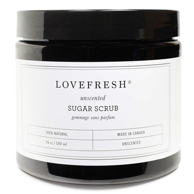 Lovefresh Unscented Sugar Scrub