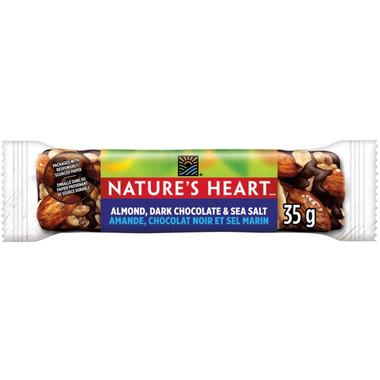 NATURE\'S HEART Almond Dark Chocolate & Sea Salt Nut Bar