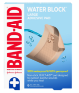 Band-Aid Brand Waterproof Pads Large Sterile First Aid Pads for Wounds