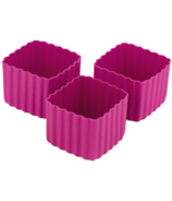 Little Lunch Box Co. Bento Cups Square Dark Pink