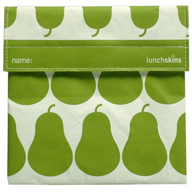 Lunchskins Green Pear Sandwich Bag