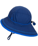 Calikids Quick-Dry Bucket Hat Extra Wide Brim Navy Peony