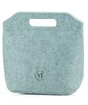 Minimal Eco-Felt Lunch Bag Small Light Grey