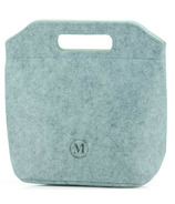 Minimal Eco-Felt Lunch Bag Small Light Grey
