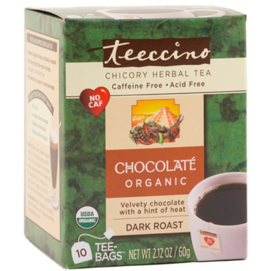 Teeccino Organic Maya Chocolate Chicory Herbal Tea