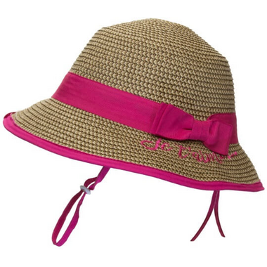 Calikids Straw Hat Raspberry