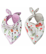 Little Unicorn Cotton Muslin Bandana Bib Set Summer Poppy