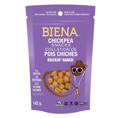 Biena Foods Chickpea Snacks Rockin\' Ranch