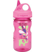 Nalgene 12 Ounce Grip-n-Gulp Bottle Pink with Elephant Art